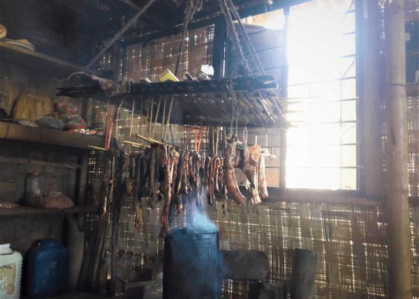 Preparation of Naga cuisine